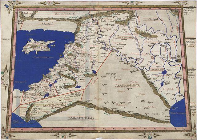 Syrian Wars - Ptolemy Tabula Asiae IV: Nicolaus Germanus (1467)
