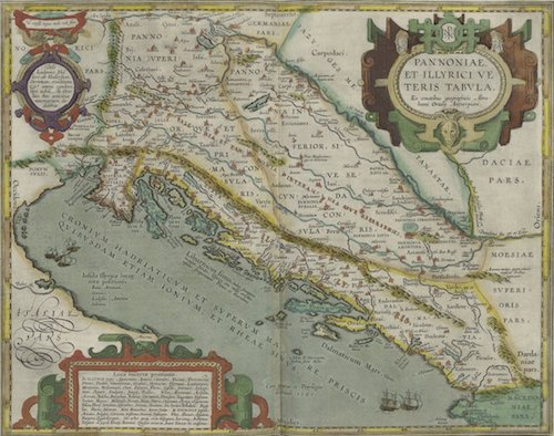 Alexander the Great - Pannonia and Illyria: Abraham Ortelius (1608)