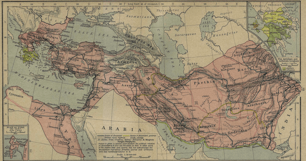 Wars of the Diadochi - Alexanders Empire Map (336-323 BCE)