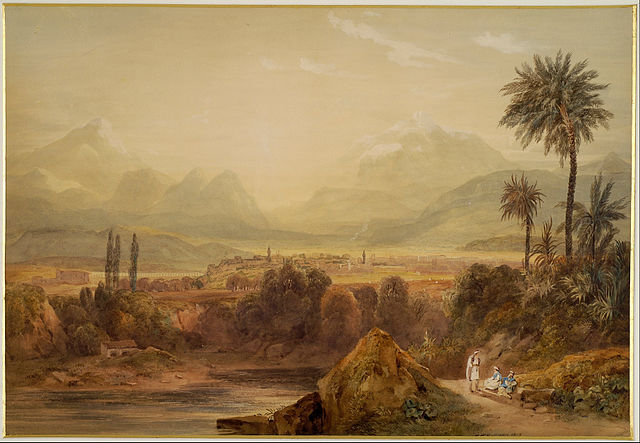 Alexander the Great - Hugh William Williams: View of Thebes (1819)