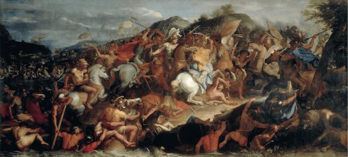 Battle of the Granicus - Le Passage du Granique: Charles Le Brun (1665)