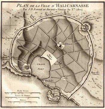 Siege of Halicarnassus - Halicarnassus Map (1802)