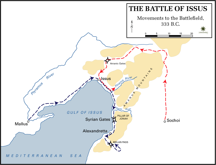 Battle of Issus - Battle of Issus Movements