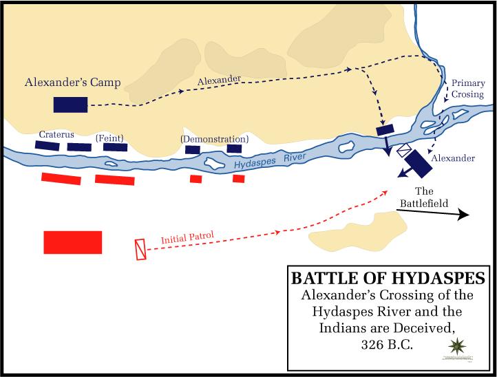 Battle of the Hydaspes - Battle of the Hydaspes Crossing