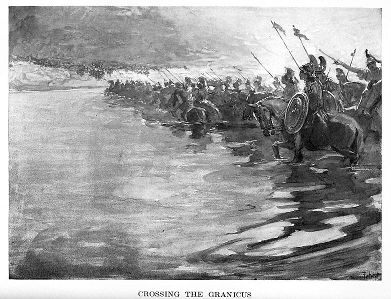 Alexander the Great - Crossing the Granicus (1909)